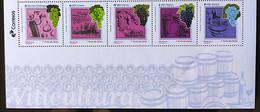 Brazil Stamp C 4004 Selo Viticultura Bebida Vinho Uva 2020  Viticulture Drink Wine Grape With Vignette - Ungebraucht