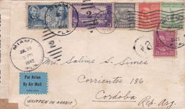 USA, ENVELOPPE. CIRCULEE MIAMI A CORDOBA, ARGENTINE. ANNEE 1942. MIX TIMBRES. CENSURE. PAR AVION -LILHU - Covers & Documents