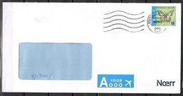 Belgien, MiNr. 4302 II Dl; Freimarken: Schmetterlinge, Auf Brief Nach Deutschland; E-242 - Cartas