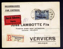 OC 9 / Lsc Exprès Recommandée Welkenraad 8 9 17 => Verviers Censure Militaire De Verviers - [OC1/25] Gen.reg.