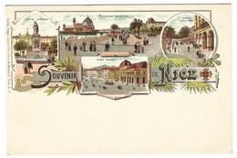 NICE (06) - Souvenir De Nice - Carte Multi-vues - Ed. Charles Glogau, Libraire, Nice - Panoramic Views