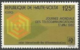 """Hte-Volta YT 580 """" Télécommunications """" 1982 Neuf** - Alto Volta (1958-1984)"""