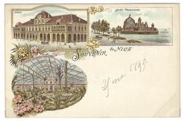 NICE (06) - Souvenir De Nice - Carte Multi-vues - Jetée - Promenade - Casino - Sans éditeur - Panoramic Views