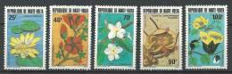 """Hte-Volta YT 582 à 586 """" Fleurs """" 1982 Neuf** - Alto Volta (1958-1984)"""