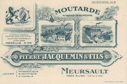 Moutarde Pierre JACQUEMIN Fils Et Cie MEURSAULT - Visiting Cards