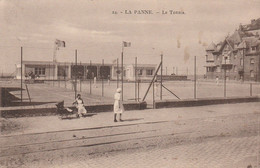 De Panne , La Panne ,Le Tennis , ( Rail Du Tram ) ( édit  : Henri Georges ,n° 24 ) - De Panne