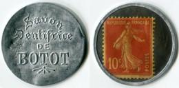 N93-0647 - Timbre-monnaie Dentifrice De Botot - 10 Centimes - Kapselgeld - Encased Postage - Monetari / Di Necessità