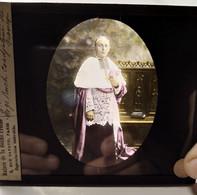 Autochrome (?) - Plaque De Verre Couleurs. - Portrait De Mgr Ruch, Coadjuteur De Nancy - Vers 1913 - BE - Diapositiva Su Vetro