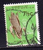 SUD SOUTH AFRICA RSA AFRIQUE 1961 FLORA MAIS MAIZE GRANOTURCO GRANTURCO CENT. 7 1/2 USATO USED OBLITERE' - Oblitérés