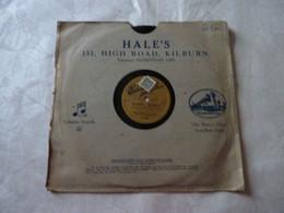 Disque GRAMOPHONE Edison Bell F 3135 (pochette Hales England - Columbia Records) - F 3135 - 78 G - Dischi Per Fonografi