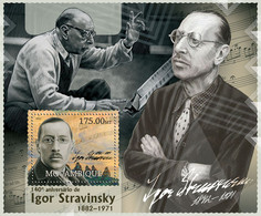 Mozambique 2012 MNH - Igor Stravinsky. Y&T 601, Mi 5915/Bl.653, Scott 2685 - Mozambico