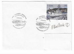 22 JDA - PH JEANNE D'ARC - ST PIERRE ET MIQUELON - 1er JOUR DU TIMBRE PH JEANNE D'ARC - AVRIL 2010 (Signature Du Déssina - Correo Naval