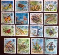 Seychelles Zil Eloigne Sesel 1980 Wildlife Set Birds Marine Life Butterflies Bats MNH - Ohne Zuordnung