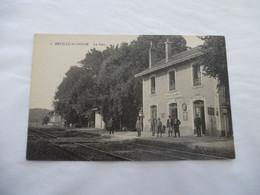 NEUILLE-le-LIERRE (37) : La GARE - Ligne CFD Chateau-Renault à Vouvray Supprimée En 1949- NON Voyagé  - 2 Scans - Other Municipalities