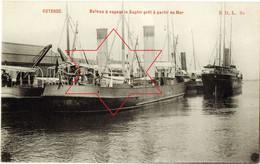 Bassins - Ingang Centrum - Handelskaai (Bateau A Vapeur Le Saphir Pret A Partir En Mer) Oostende - Ostende (DOOS 8) - Oostende