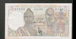 Billet De 5 Francs, Du 21-11-1953 - Other - Africa