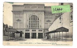 Paris  (XIXe) : Le Théâtre Nouveau, Rue De Belleville - Arrondissement: 19