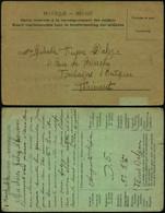 DEL085 Carte En Franchise Du Front Belge à Fontaine L'Evêque 1917 Correspondance Soldat - Altre Lettere