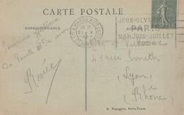 TF - - Flamme Jeux Olympiques PARIS MAI JUIN JUILLET 1924 - Cp Paris Place De L'opéra - Mechanical Postmarks (Advertisement)