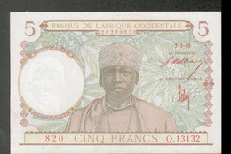 Billet De 5 Francs, Du 2-3-1943 - Other - Africa
