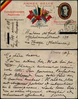 DEL089 Carte En Franchise - Censurée - Ambulant Hondschotte Hazebrouck France Vers La Haye Netherlands Pays Bas 1917 - Altre Lettere