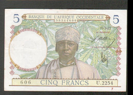 Billet De 5 Francs, Du 15-3-1937 - Other - Africa