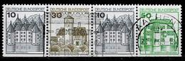 Bund 1980,,Michel# 913, 914, 1038 II D O Burgen Und Schlösser - Se-Tenant