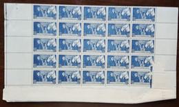 YT N°583 - Feuille De 25 Timbres - Hôtel Dieu De Beaune - 1943 - Neuf - Unused Stamps