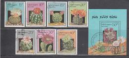 Vietnam 1987 - Kakteen, Mi-Nr. 1868/74+Bl. 58, Used - Vietnam