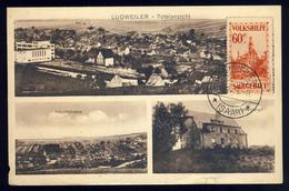 SARRE / SAAR / SAARGEBIET - 1933 - Mi.162 /CP - Ansichtskarte LUDWEILER N. Frankreich (defekten) - Brieven En Documenten