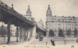 75 - Paris Et Environs - Beau Cliché Du Viaduc Du Métro à Passy - Voiture - Other