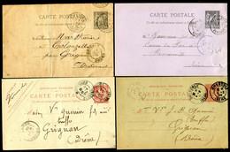 FRANCE - LOT DE 10 ENTIERS POSTAUX - Lots Et Collections : Entiers Et PAP