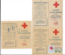 Croix Rouge Francaise - Carte D'Adhérent  - 1953 - 1958 - 1956 - Pubblicitari
