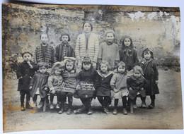 Photographie Scolaire Ancienne école De Filles 49 SOULANGER 1926 1927 Doué En Anjou - Places