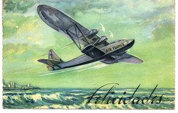 CARTE AIR FRANCE . 1938 . VOL PAR AVION D'ARGENTINE + TIMBRES - Other