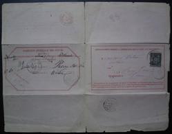 Chargé D'office 1880 Renseignements Pour Précy Sur Oise + Cad Paris 10 Et Paris Chargements Rouge Voir Détail ! - 1877-1920: Semi Modern Period