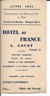 76 - Seine Maritime - Veules Les Roses - Dieppe - Hotel De France - L.Gouot - Documenti Storici