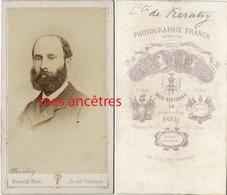 CDV Par Franck à Paris- Comte Emile DE KERATRY, Militaire écrivain Et Homme Politique-1832-1904-général De Brigade - Old (before 1900)