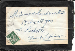 Lot 2 Lettres Gemozac CP N 3 CHARENTE INFERIEURE - CP Pour Circuit Postal - 1921-1960: Modern Period