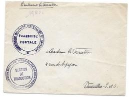 C28 Lettre Commission Militaire Interalliée De Controle Berlin Allemagne (1920) - Guerra De 1914-18