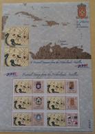 2004 Nederlandse Netherlands Antilles - Old Maps Coat Of Arms, Carte Persönliche Briefmarken, Block Personal Stamps  MNH - Geografia