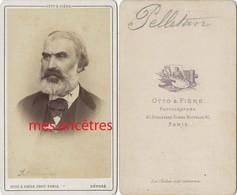 CDV Par Otto Et Frères  à Paris-Eugène Pierre Clément PELLETAN-1813-1884-écrivain, Journaliste, Homme Politique - Old (before 1900)