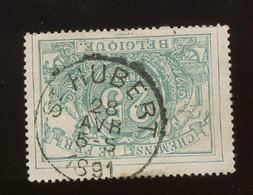 Belle Ø St.Hubert 28 Avril 1891 Sur Le TR 10A. Bleu Vert - Unclassified