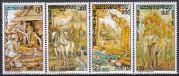 LAOS N° 283/286  De 1975 En Série Complète Neuve** - Laos