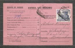BARCELONA - AVISO DE RECIBO - Servicio De Correos - SPAIN  - F 1067 - Unclassified