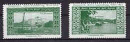 1913 AUSTRIA, AUSTRIAN ADRIATIC, VIENNA EXHIBITION, BRIONI, CROATIA, 2 POSTER STAMPS - Nuevos