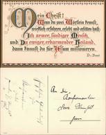 D.V. Bezzel Bibel Spruch Gratulation Zur Konfirmation 1920 Goldrand - Sin Clasificación
