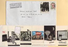 Vignette - Michel Hosszu - Un Artiste Un Timbre - 1992 - Enveloppe Avec Carnet De Vignettes A L Interieur - 1961-....