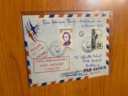 1 ère Liaison Aérienne Paris / Auckland 1957 - Correo Aéreo