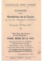 Courcelles-Saint-Lambert, Bénédiction De La Cloche En 1951, - Imágenes Religiosas